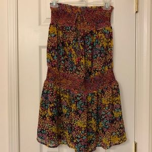 NWOT Strapless Floral Dress